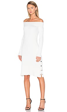Life is Real Long Sleeve Knit Dress in White