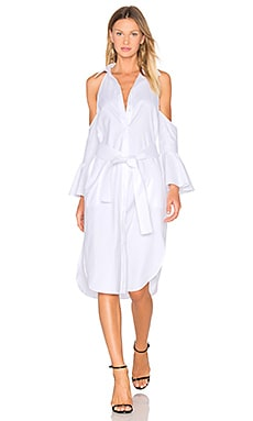 Show Me Shirt Dress in White