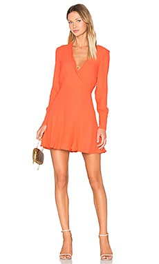 C/MEO Hold Tight Long Sleeve Dress in Morange
