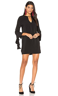 Spelt Out Long Sleeve Dress en Noir