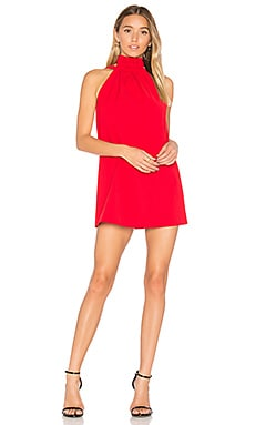 Out Of Line Mini Dress in Cherry