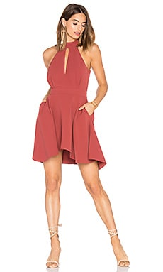 Witness Dress in Marsala
