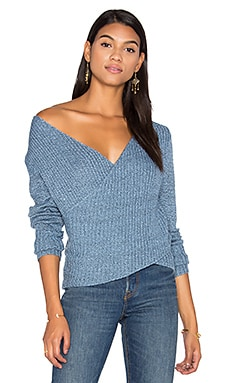 Make A Move Knit Sweater in Indigo