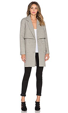 C/MEO Straight Talker Coat in Grey Marle