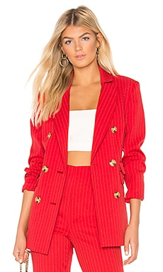 Go From Here Blazer In Red C/MEO $77