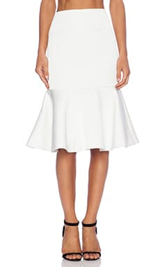 C/MEO No Diggity Flare Skirt in Ivory