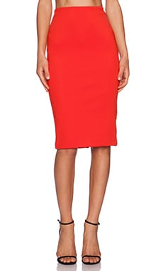 C/MEO Metal & Dust Skirt in Scarlet