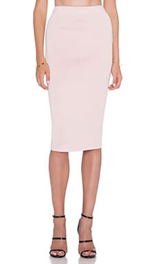 C/MEO Sober Thoughts Skirt in Baby Pink