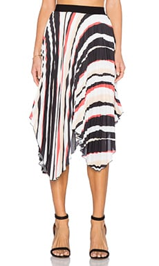 C/MEO Steady Goes Skirt in Stripe Print
