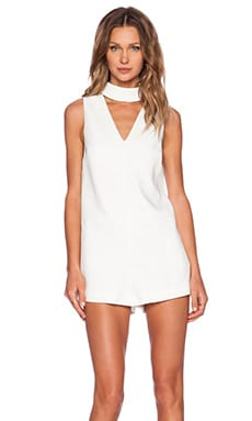 C/MEO Say It Right Romper in Ivory