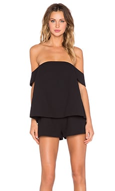 The Palisades Romper in Black