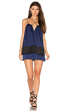 Two Lanes Playsuit en Marine