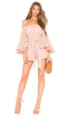 Runaways Playsuit in Peach. - size M (also in S,XS,XXS) C/Meo Collective
