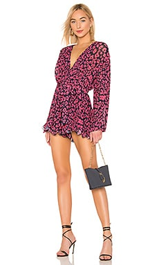 So Settled Romper In Hot Pink Abstract Floral C/MEO $210