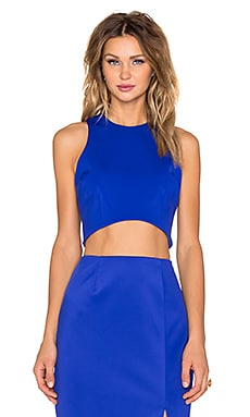C/MEO Parachute Crop Top in Cobalt