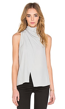C/MEO Crossing Paths Silk Top in Silver