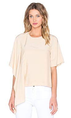 Disposition Silk Top in Tan