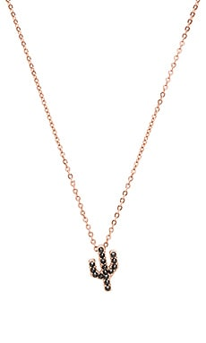 Studded Saguaro Necklace in Rose Gold