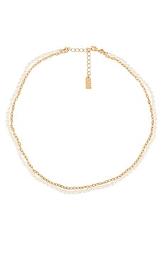 Pearl & Chain Necklace CAM $72