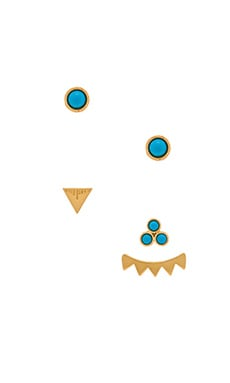CAM Ala Lani Combo Earring Set in Gold & Turquoise