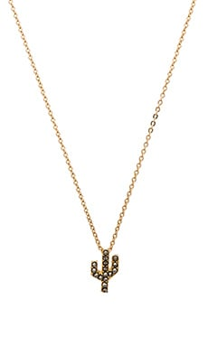 CAM Studded Saguaro Necklace in Desert Gold
