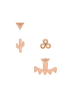 CAM Ala Lani Combo Earring Set in Rose Gold