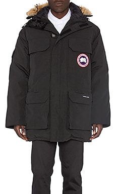Canada Goose Expedition Coyote Fur Trim Parka in Black