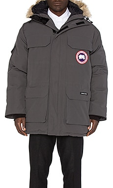 Expedition Coyote Fur Trim Parka en Graphite