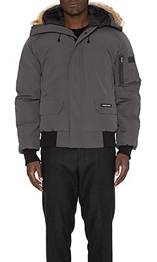 Canada Goose Chilliwack Coyote Fur Trim Bomber in Graphite