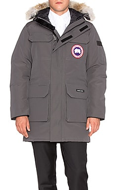 Canada Goose Citadel Parka with Coyote Fur Trim in Graphite
