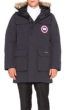 Canada Goose Citadel Parka with Coyote Fur Trim in Navy