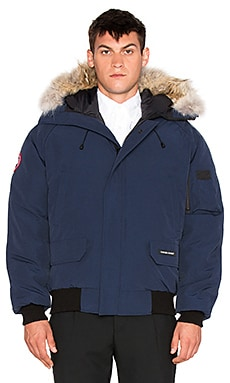 Canada Goose Chilliwack Bomber with Natural Coyote Fur Trim in Spirit