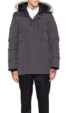 Carson Coyote Fur Trim Parka in Graphite