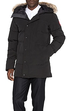 Canada Goose Carson Parka with Coyote Fur Trim in Black