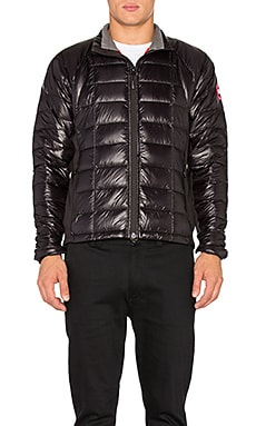 Canada Goose Hybridge Lite Jacket in Black & Red