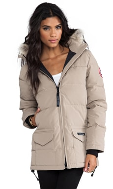 Canada Goose Solaris Parka with Coyote Fur in Tan