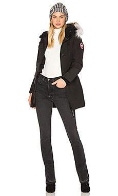 Canada Goose Victoria Parka with Coyote Fur in Black