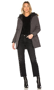 Victoria Parka with Coyote Fur Trim – 铅黑色