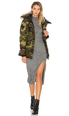 Montebello Coyote Fur Parka in Classic Camo