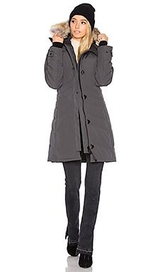 Lorette Parka with Coyote Fur Trim – 铅黑色