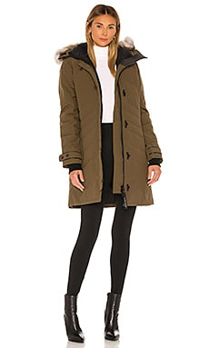 Lorette Parka with Removable Fur Ruff Canada Goose $995