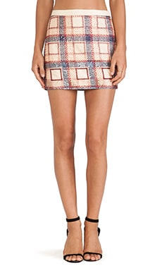 Candela Adela Skirt in Plaid