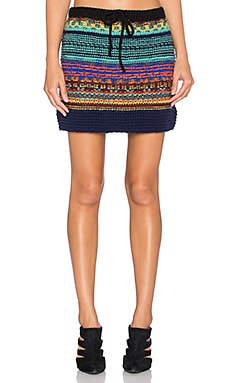 Candela Garrett Skirt in Teal Multi