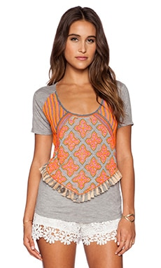 Candela Bloom Tee in Grey & Multi