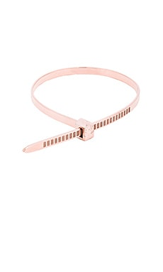 Cast of Vices Zip Tie Bracelet in Rose