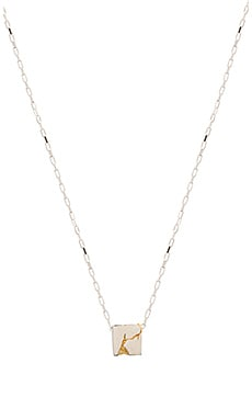 Cast of Vices Sterling Silver With Gold Fill Cube Necklace in Silver & Gold