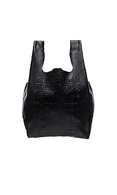 Corner Store Leather Shopper en Noir