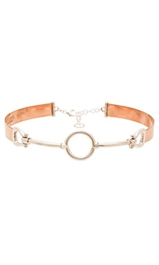 Cast of Vices Choker in Sterling Silver & Rose Gold Plating