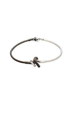 Barbed Wire Bracelet in Silver & Black Plating