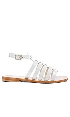 Capri Positano Gladiator Sandal in Silver